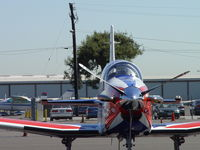 N548MB @ POC - Facing into the sun at Brackett Transient Parking - by Helicopterfriend