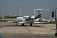 9H-AFB @ EBBR - Taxiing to leave General Aviation apron - by Daniel Vanderauwera