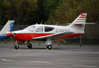 G-BMWR @ EGLK - Rockwell Commander 112 at Blackbushe - by moxy