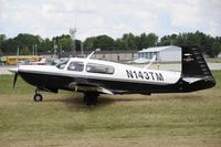 N143TM @ KOSH - Taxi to parking