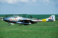 G-DHZZ @ EGSU - This former Swiss Vampire was flying in full 56 Sq colours. - by Joop de Groot