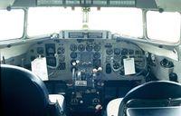 N44V @ KCLT - Douglas DC-3 cockpit seen at the Carolinas Aviation Museum