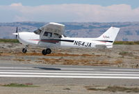 N54JA @ SQL - 1998 Cessna 172R ready for touchdown - by Steve Nation