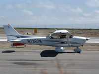 N1361M @ KSQL - Locally-based 2005 Cessna 172S taxiing - by Steve Nation