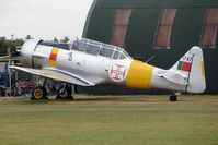G-BGPB @ EGSU - Harvard 4 wearing Portuguese AF Serial 1747 at Duxford
