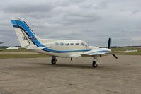 OO-STG @ EGSU - Belgian Cessna 421 at Duxford