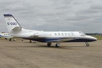 G-CGEI @ EGSU - Cessna 550 at Duxford