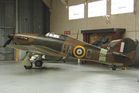 G-HURI @ EGSU - 1942 Canadian Car And Foundry Co HAWKER HURRICANE MK XII wears Serial Z5140 at Imperial War Museum , Duxford