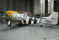 G-BTCD @ EGSU - 1944 North American Aviation Inc NORTH AMERICAN P-51D-25-NA, c/n: 44-73149 - at Imperial War Museum Duxford