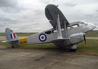 G-AIYR @ EGSU - 1943 Brush Coachworks Ltd DH89A RAPIDE at Duxford