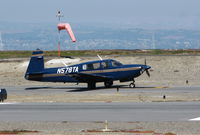 N578TA @ KSQL - Locally-based Mooney M20R running-up engine - by Steve Nation