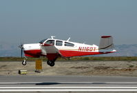 N1160T @ KSQL - Locally-based 1976 Beech V35B returning from flight to southern California - by Steve Nation