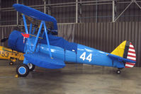G-RJAH @ EGSU - Stearman at Imperial War Museum Duxford
