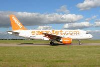 G-EZBL @ EGNX - Easyjet A319 at EMA