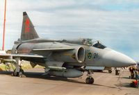 37406 @ EGQL - AJ-37 Viggen of F21 Wing Swedish Air Force in the static park of the 2000 Leuchars Airshow. - by Peter Nicholson