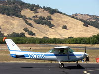 N17RR @ 1O2 - Christiansen Aviation 1979 Cessna 152 taxiing out to RW10 at Lampson Field - by Steve Nation