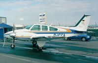 D-ICCA @ EDNY - Beechcraft 95-B55 Baron at the Aero 1999, Friedrichshafen - by Ingo Warnecke