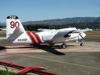 N434DF @ KUKI - CDF Grumman-Marsh Aviation S-2F3AT on alert at Ukiah Air Attack Base - by Steve Nation