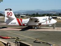 N434DF @ KUKI - CDF Grumman-Marsh Aviation S-2F3AT Ukiah titles under nose on alert at Ukiah Air Attack Base - by Steve Nation