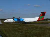 5Y-VVW @ EHEH - De Havilland-Canada DHC8-Q402 Dash8 5Y-VVW Bluebird Aviation of Kenya - by Alex Smit