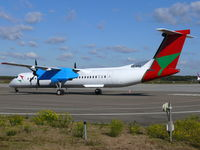 5Y-VVX @ EHEH - De Havilland-Canada DHC8-Q402 Dash8 5Y-VVX Bluebird Aviation of Kenya - by Alex Smit