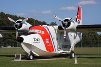 7247 @ ECG - For 32 years, from May 1951 to March 1983, 88 of these aircraft served in the USCG. It's primary mission was search & rescue. It holds 9 amphibious world records, including longest non-stop distance (including Kodiak, AK to Pensacola, FL - 3,107 miles). - by Dean Heald