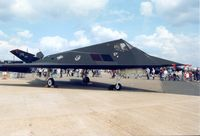 84-0809 @ MHZ - Another view of the Holloman F-117A Nighthawk on display at the 1996 Mildenhall Air Fete. - by Peter Nicholson