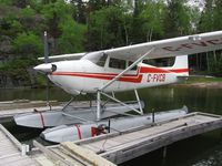 C-FVCB @ CYFO - Early model 1953 Cessna 180 at a private dock in Northern Manitoba. - by Trevor Highmoor