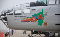 N125AZ @ KMAF - MAID in the SHADE nose art on B-25 Mitchell N125AZ. - by TorchBCT