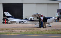 N114TX @ KMAF - Texas Department of Public Safety Turbo Stationair on display during Airsho 09. - by TorchBCT