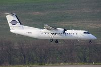 D-BOBU @ EDDR - Cirrus DHC8-311A during final corrections prior touchdown