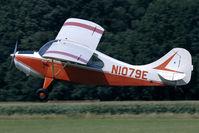N1079E @ EBDT - Heavy cross wind correction during landing. - by Joop de Groot