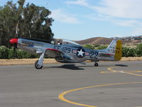 N151SE @ VCB - 1944 North American/aero Classics P-51D taxiing @ Gathering of Mustangs event - by Steve Nation