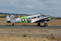 N314WN @ VCB - Vintage Aircraft (Stockton, CA) 1952 Beech C-45H as Marines El Toro-314 @ Gathering of Mustangs event - by Steve Nation