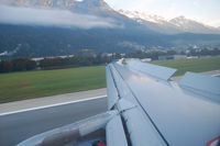 OE-LEU @ LOWI - flyNIKI Airbus A320; flight HG 8334 from Vienna to Innsbruck with Captain Niki Lauda
