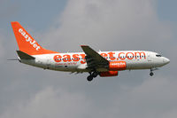 G-EZKG @ EGNT - Boeing 737-73V. On approach to Rwy 07 at Newcastle Airport. - by Malcolm Clarke
