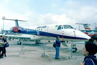 PT-ZJC @ LFPB - EMBRAER EMB-135ER (converted from EMB-145LR) at the Aerosalon 1999, Paris