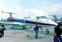 PT-ZJC @ LFPB - EMBRAER EMB-135ER (converted from EMB-145LR) at the Aerosalon 1999, Paris