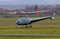 G-BPXE @ EGBJ - Enstrom F280C [1089] Staverton~G 14/03/2008. Departing back to home base at Little Hampden Manor Bucks