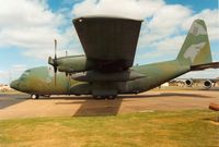 74-1681 @ MHZ - Another view of the 463rd Tactical Airlift Wing C-130H on display at the 1989 Mildenhall Air Fete. - by Peter Nicholson
