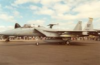 84-0043 @ MHZ - Another view of the Bitburg F-15D Eagle from the 53rd Tactical Fighter Squadron/36th Tactical Fighter Wing on display at the 1989 Mildenhall Air Fete. - by Peter Nicholson