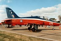 XX176 @ MHZ - Hawk T.1 of the Central Flying School on display at the 1989 Mildenhall Air Fete. - by Peter Nicholson