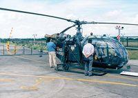D-HARE @ EDKB - Sud-Aviation SA.318C Alouette II of the Bundesgrenzschutz at the Bonn-Hangelar 90-year jubilee-airshow