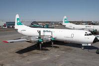C-GLBA @ CYZF - Buffalo Airways L-188 - by Andy Graf-VAP