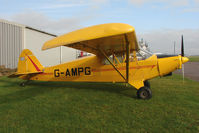 G-AMPG @ EGBG - 1946 Piper PA-12 at Leicester on the All Hallows Day Fly-in