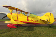 G-LOOP @ EGBG - Resident Pitts S-1C at Leicester on the All Hallows Day Fly-in