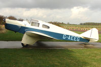 G-AEEG @ EGBG - Vintage 1936 Miles M3A Falcon at Leicester on the All Hallows Day Fly-in