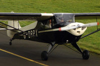 G-BRPX @ EGBG - 1945 Taylorcraft BC12D at Leicester on the All Hallows Day Fly-in
