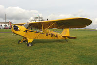 G-BVAF @ EGBG - 1940 Piper J3C-65 at Leicester on the All Hallows Day Fly-in