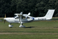 G-CEFP @ EBDT - landing at Diest for the Old-timer fly-in.